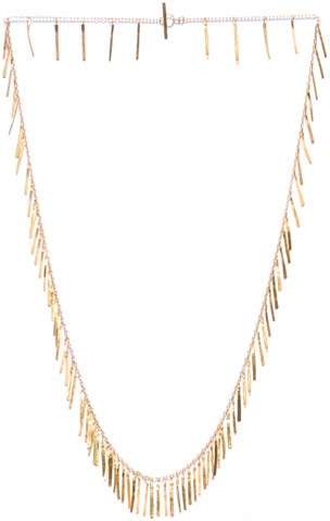 SIA Taylor Yellow gold fringe necklace