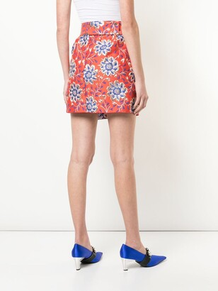 Maison Rabih Kayrouz Floral Jacquard Mini Skirt