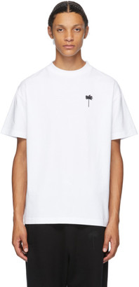 Palm Angels White Embroidered Palm T-Shirt