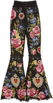 Dolce & Gabbana Cropped Floral Patchwork Lace Pants