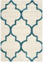 Safavieh Kids Shag 5-Foot 3-Inch x 7-Foot 6-Inch Area Rug in Ivory/Blue