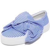 Joshua Sanders Wide Stripes Bow Slip On Sneakers