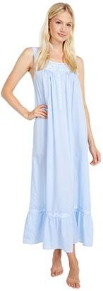 Eileen West 100% Cotton Sleeveless Ballet Nightgown (Chambray) Women's Pajama