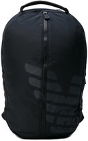 Emporio Armani central zip backpack - men - Polyester - One Size