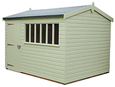 Crane 3 x 3.6m Balmoral Garden Shed, FSC-certified (Scandinavian Redwood)