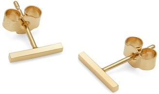 Myia Bonner 9K Yellow Gold Bar Stud Earrings