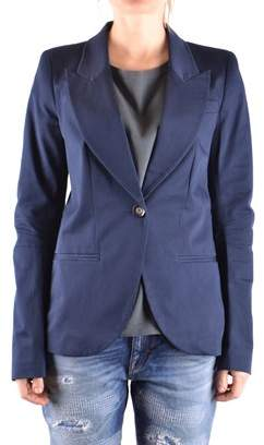 Pinko Women's Blue Cotton Blazer.