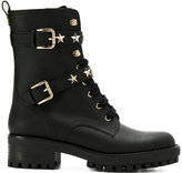 RED Valentino star studded lace-up boots