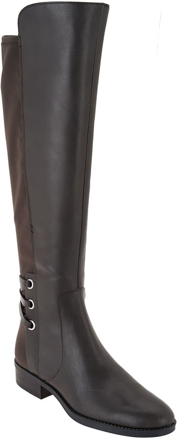 324e7ea1493 Medium Calf Leather / Suede Tall Shaft Boots- Pauletta