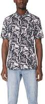 Zanerobe Men's Cotton Square Fern Box Short Sleeve Shirt