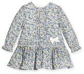 Mayoral Long-Sleeve Floral Poplin Dress, Size 3-24 Months