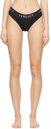 Versace Underwear Black Logo Band Briefs