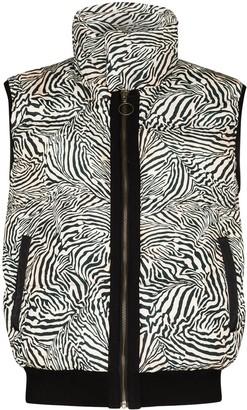 The Upside Zebra-Print Puffer Gilet