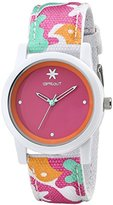 Sprout Women's ST/5528PKCO Pink Dial Multicolor Organic Cotton Strap Watch