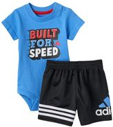 """adidas Baby Boy Built for Speed"""" Tee & Shorts Set"""