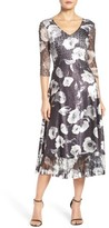 Komarov Women's Mixed Media Midi Dress