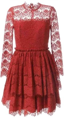 Lanvin Red Lace Dress for Women