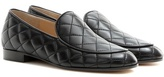 Gianvito Rossi Marcel Driver Quilted Leather Loafers