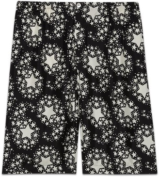 Gucci Star print silk shorts