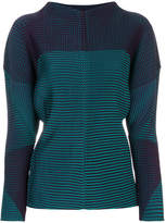 Issey Miyake relaxed fit pleated sweatshirt