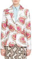 Altuzarra Fenice Floral Classic Blazer, White/Multi