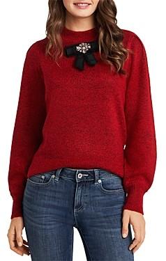 CeCe Balloon Sleeve Bow Sweater