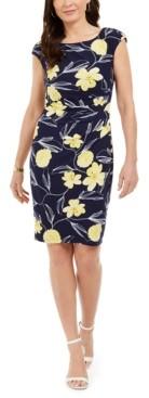 Kasper Petra Floral-Print Sheath Dress