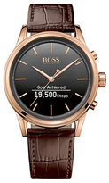 HUGO BOSS Smart Classic Croc Leather Strap Watch