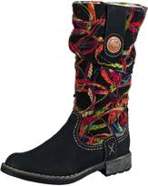 Rieker Women's Thread Long Boots 37 M EU/ 6-6.5 B(M) US Black Multi