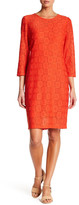 Laundry by Shelli Segal Geo Pattern Lace Sheath Dress