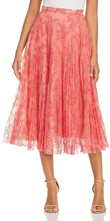 Burberry Wilton Layered Lace Midi Skirt