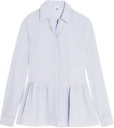 Iris and Ink Silk-crepe peplum shirt