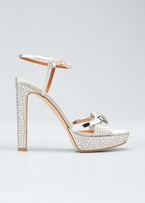 Malone Souliers Lauren Metallic Studded Platform Sandals