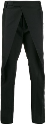 Les Hommes tailored front-bib trousers