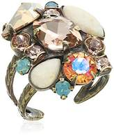 """Sorrelli Apricot Agate"""" Contemporary Cluster Ring, Size 7-9"""