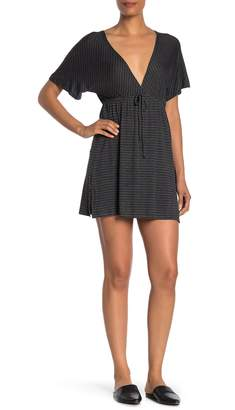 Elan International Striped Short Sleeve Dress