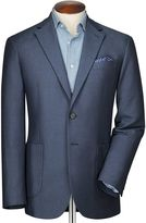 Classic Fit Blue And Sky Semi-plain Cotton Jacket Size 36 Regular By Charles Tyrwhitt
