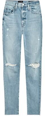 Joe's Jeans The Raine Ripped Super High Waist Ankle Slim Jeans