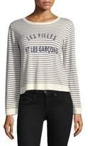 Joie Verbina Printed Stripe Crewneck Sweater