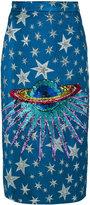 Gucci embellished planet midi skirt - women - Silk/Cotton/Acrylic/Viscose - 38