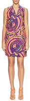 Alice & Trixie Chase Silk Printed Drawsting Mini Dress