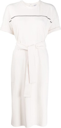 Brunello Cucinelli belted T-shirt dress