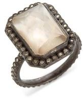 Armenta Old World Emerald Cut Diamond & Semiprecious Stone Ring