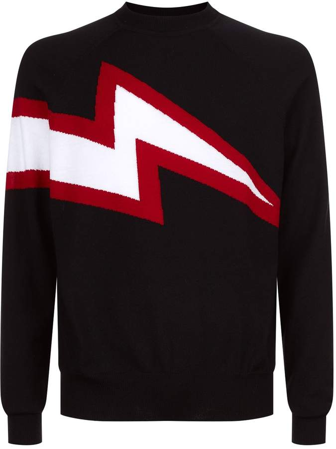 Givenchy Lightning Bolt Sweater