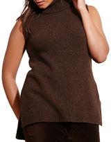 Lauren Ralph Lauren Plus Wool Sleeveless Sweater Top