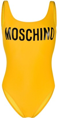 Moschino Low Back Logo Swimsuit