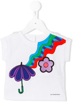 Burberry embroidered umbrella T-shirt - kids - Cotton - 6 mth