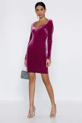 Nasty Gal Womens I'M The One Velvet Dress - Purple - 8, Purple
