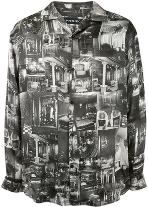 Y/Project Photograph-Print Long-Sleeve Shirt