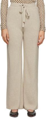 Nanushka Beige Wool Oni Lounge Pants